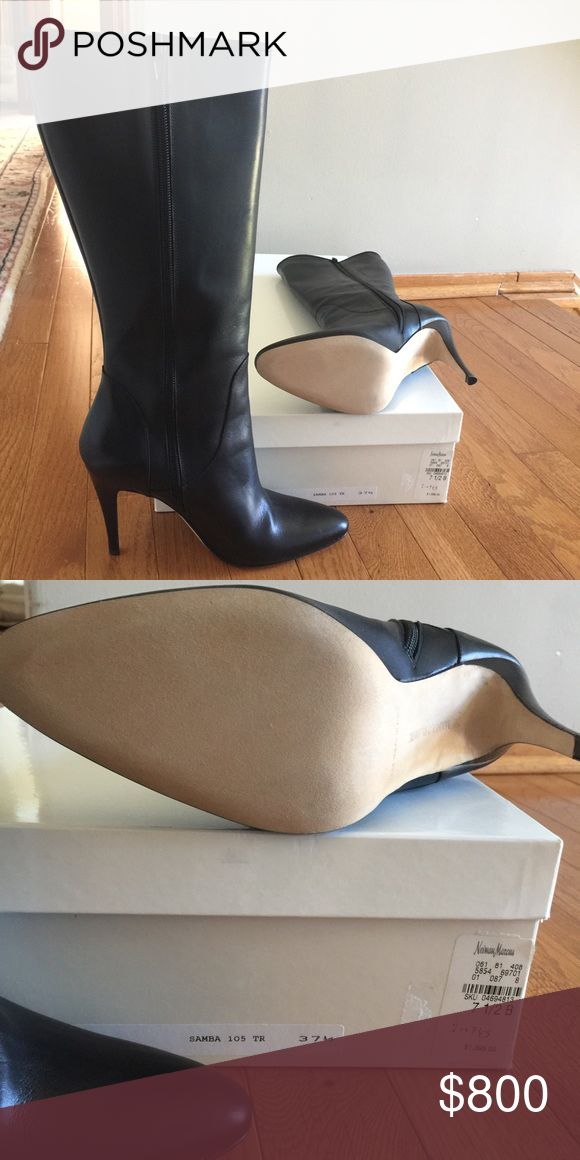 Manolo Blahnik tall boots Brand new never been worn tall black Manolo Blahnik boots 7 1/2 Manolo Blahnik Shoes Heeled Boots