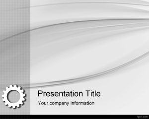 Lean Manufacturing PowerPoint Template is a free gray background template that you can download for lean manufacturing projects, but you can also download this free gear PPT template slide for business presentations