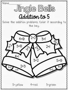 Addition Kindergarten, Education Holiday Christmas, Everyday Kindergarten, Kindergarten Classroom, Kindergarten Addition, Christmas Coloring Sheet, ...