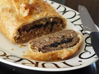 Simply Veggie: Nut Roast Wellington- with a layer of mushrooms and cranberries!