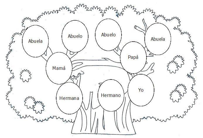 DIBUJOS ARBOL GENEALOGICO PARA INGLES - Imagui | FAMILIA | Pinterest