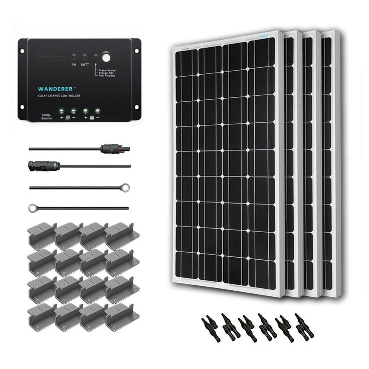 Set up an off-grid power source with the Renogy solar starter kit, a straightforward beginner's setup that's ideal if you're new to solar. This kit features four 100-watt, 12-volt solar panels that ca