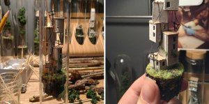 This Creative Artist Create A Miniature World Inside A Test Tube