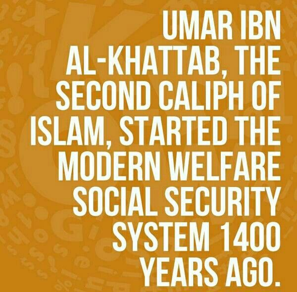 Hazrat Umar Ibn Khattab Ra and modern welfare social security system 1400