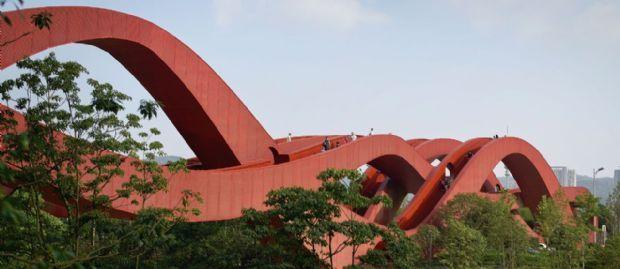 Next Architects se baseia em laços de cordão ao criar ponte que conecta quatro espaços públicos na China | aU - Arquitetura e Urbanismo