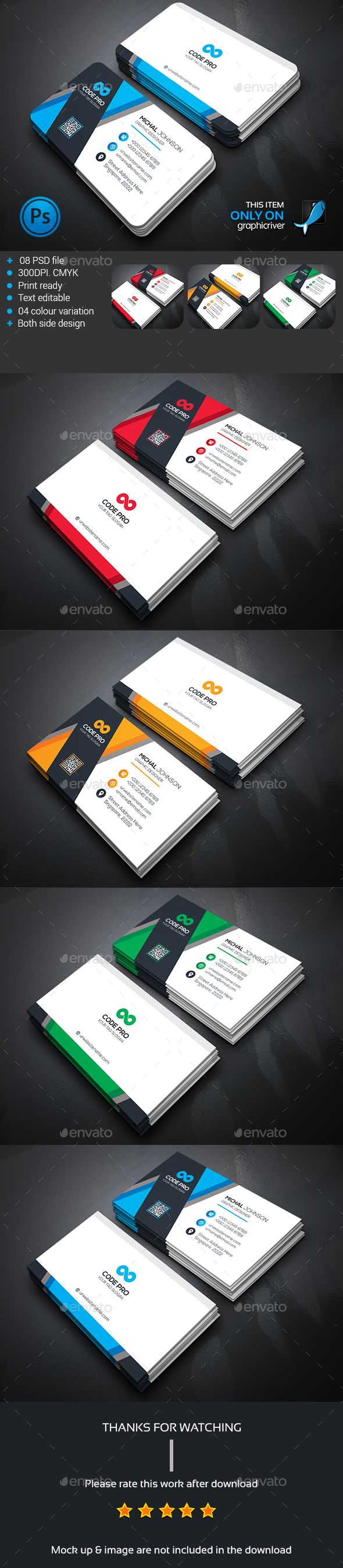 System Corporate Business Card — Photoshop PSD #package #graphic • Available here → https://graphicriver.net/item/system-corporate-business-card/13831447?ref=pxcr
