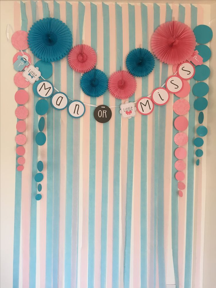 Photobooth background for Gender Reveal Party