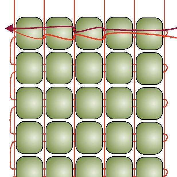 Basic Beading on a Loom: Step 13