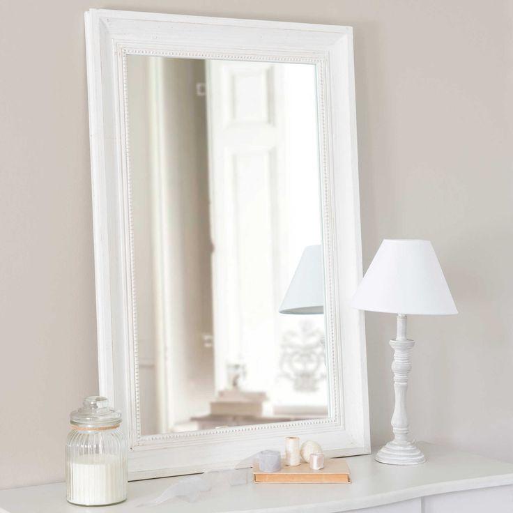 Miroir en bois écru H 90 cm HONORÉ   Maisons du Monde
