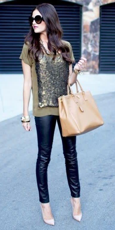 Leather Pants Are Back! Read More on http://www.mushybananasblog.com.