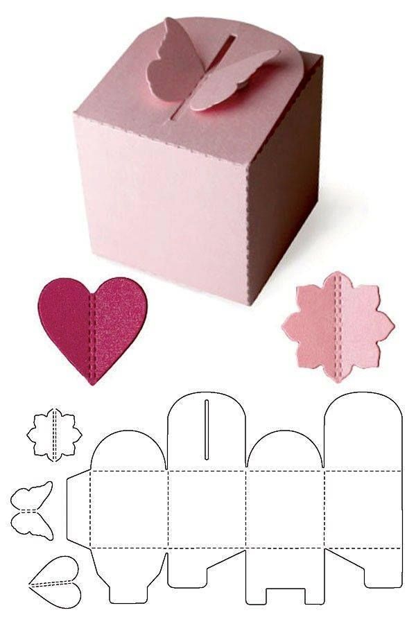 44 best ΚΟΥΤΙΑ-BOXES images on Pinterest Box templates, Gift - homemade gift boxes templates