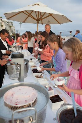 sundae bar - how to keep ice cream from melting