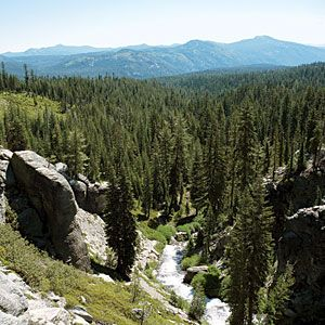 Last minute camping destinations in Northern CA - A crowd-free view of Kings Creek in Lassen Volcanic National Park.