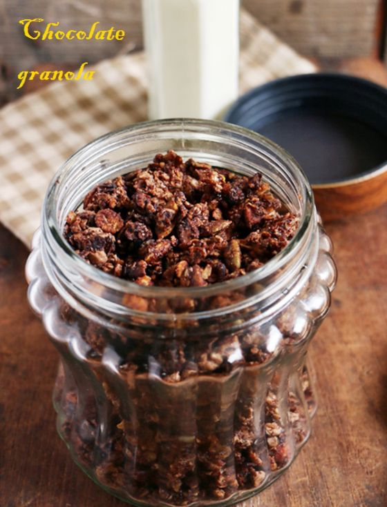 {new post} Easy double chocolate granola, healthy and tasty chocolate granola wi…