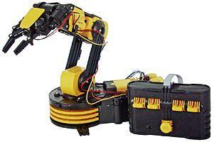Bras robotique Velleman KSR10  #robot disponible sur http://www.gotronic.fr/art-bras-robotise-ksr10-11672.htm