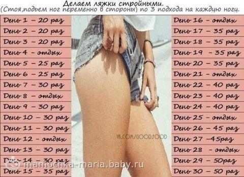 Упражнения на 30 дней