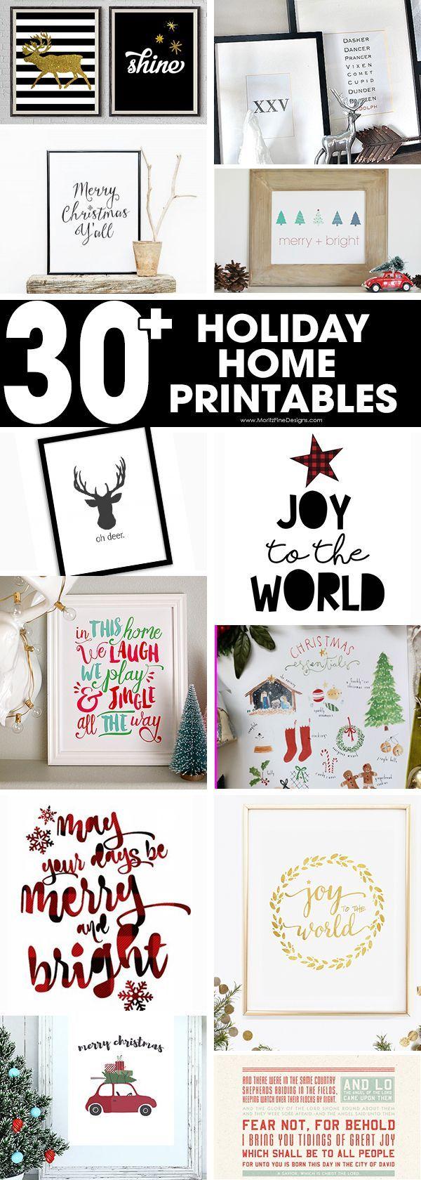 holiday printables free