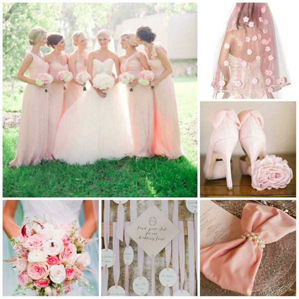 @Tory Le sometimes I feel like I still want blush dresses....  Hot Spring Wedding Ideas and Inspirations -InvitesWeddings.com