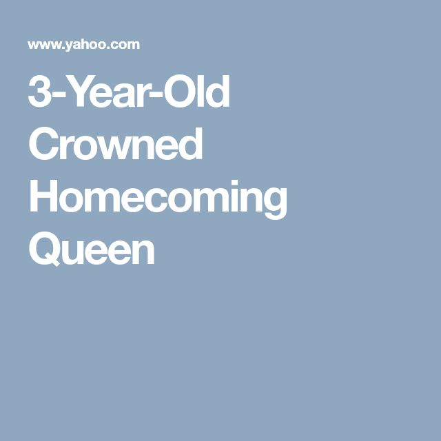 3-Year-Old Crowned Homecoming Queen