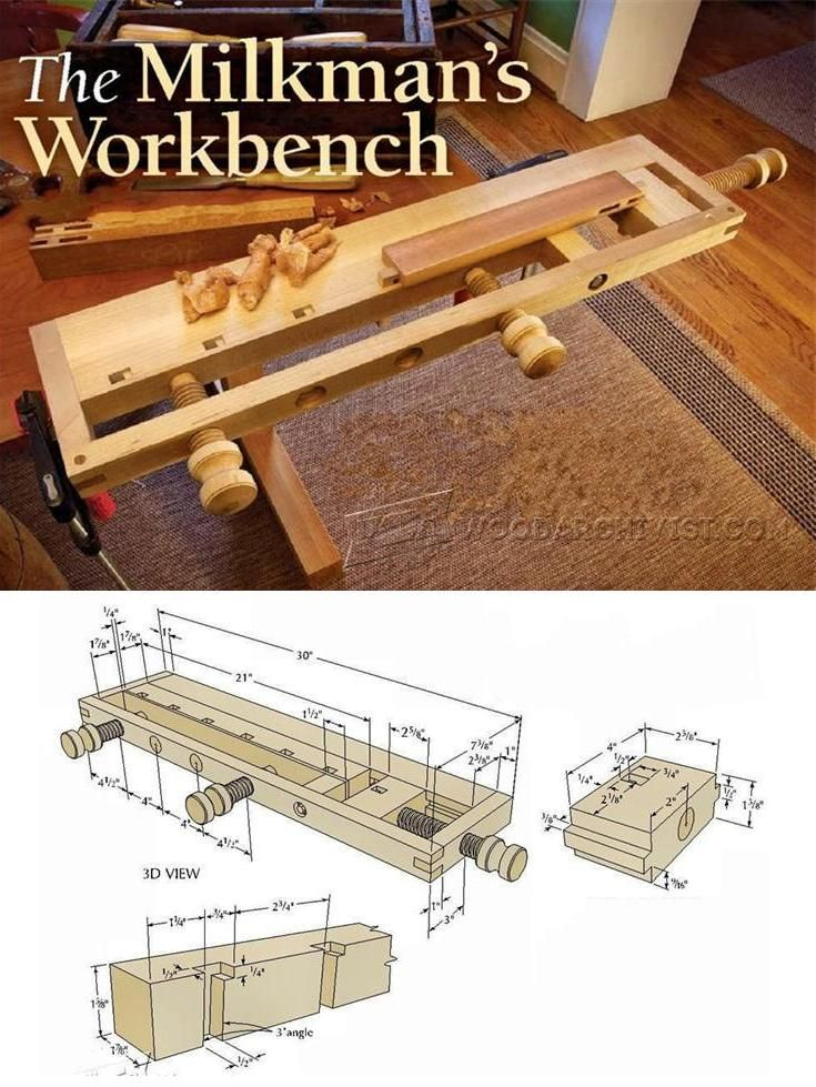Milkman's Workbench Plans - Workshop Solutions Plans, Tips and Tricks | WoodArchivist.com