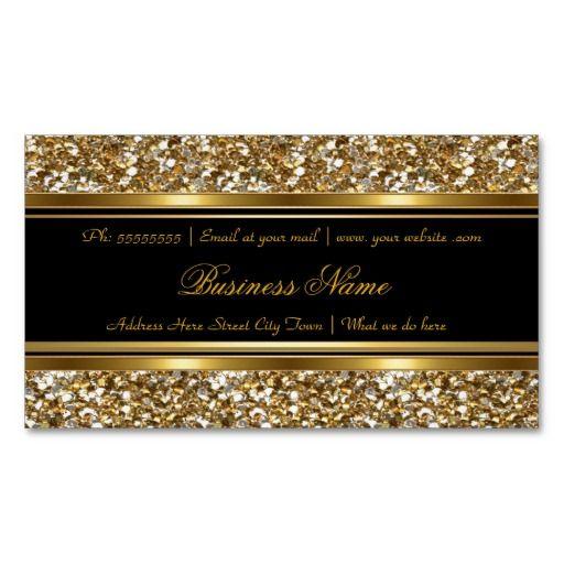 elegant classy gold black faux glitter business magnetic. Black Bedroom Furniture Sets. Home Design Ideas