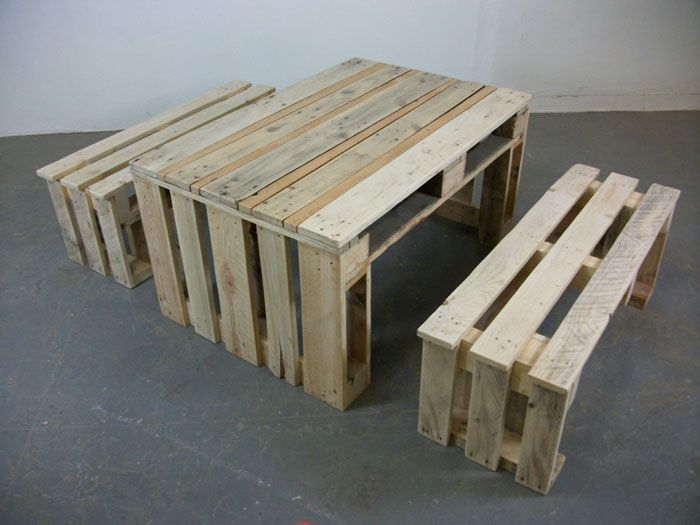 pallet furniture - bench
