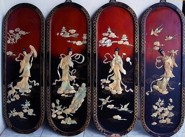 Chinese Inlay Carved Panels Would Make Nice Skate Decks