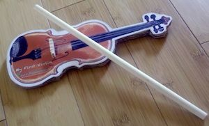 My First Violin! Make a Cardboard Violin! Free Template at Fiddleheads.ca
