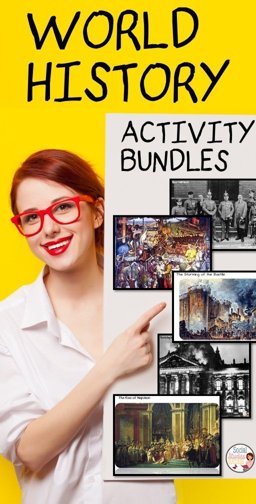 World History Activities to engage your students - This bundle includes beginning of the year activities all the way to World War II.