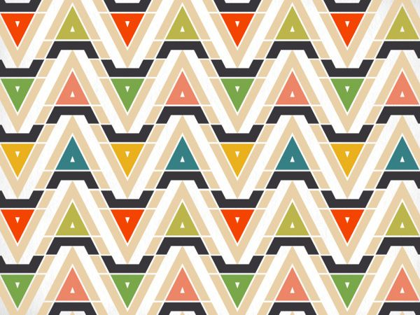The Wigwam Cabins Identity pattern by Oat Studio via Design is Yay!