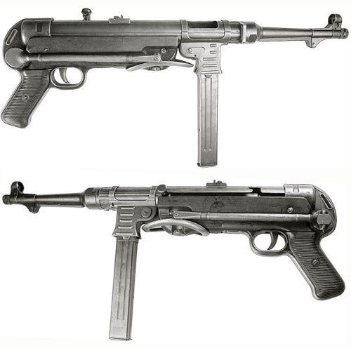 El MP40 (Maschinenpistole 40) fue un subfusil automático usado de manera extensa por las tropas de la Alemania nazi, generalmente los oficiales y paracaidistas, durante la Segunda Guerra Mundial. Diseñado por Heinrich Vollmer, de Erma, con el fin de dotar a los soldados de un arma de asalto, principalmente las unidades de infantería mecanizada y paracaidistas, fue fabricado hasta el final del conflicto. Arma excelente para el combate a corta distancia (zonas urbanas, bosques, etc.), era, sin