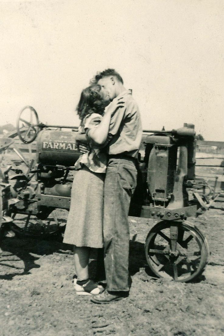 Sweethearts | Vintage Farm Photograph