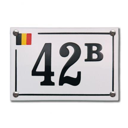 HE-60 emaille huisnummer 'Baarle Hertog'. De trots van België, geplaatst op een emaille bordje samen met jouw huisnummer!