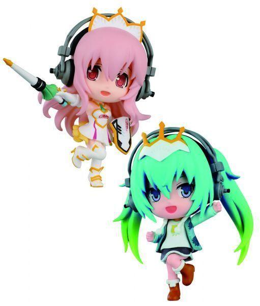 Vocaloid ChiBi Kyun Chara Minifiguren 6 cm Sortiment Racing Miku & Super Sonico