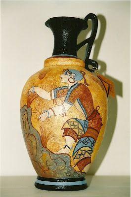 Μινωϊκές και Θηραϊκές Τοιχογραφίες σε κεραμικά
