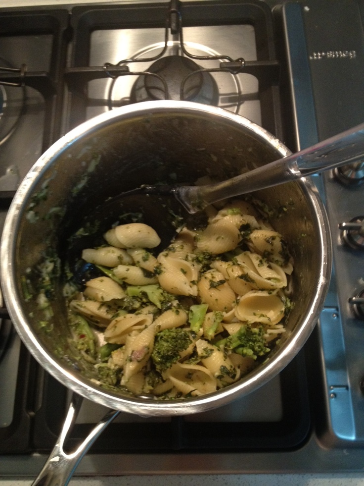 Jamie Oliver's Broccoli Orecchiette from 15 Minute Meals (Well… Shells actually!)