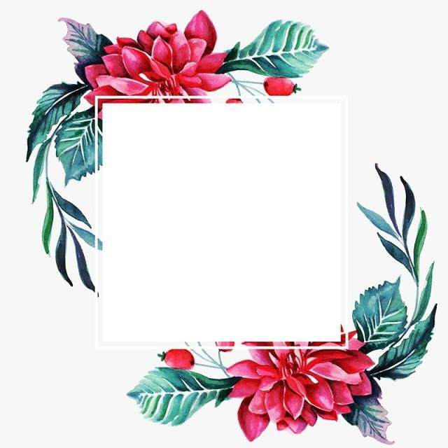 Watercolor Floral Frame Multi Purpose Background For