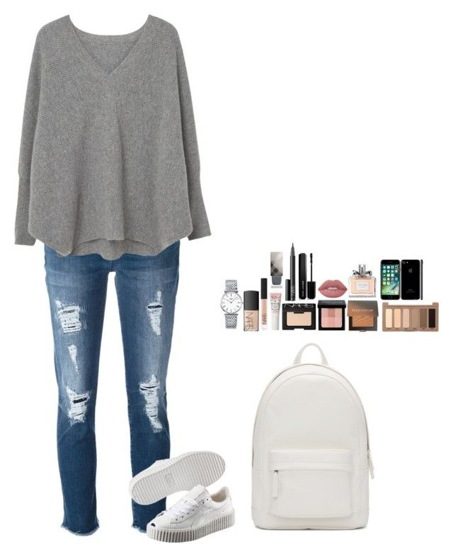 """""""Untitled #484"""" by mariapangal on Polyvore featuring 7 For All Mankind, MANGO, Puma, PB 0110, Longines, NARS Cosmetics, Bobbi Brown Cosmetics, Laura Mercier, Urban Decay and Marc Jacobs"""