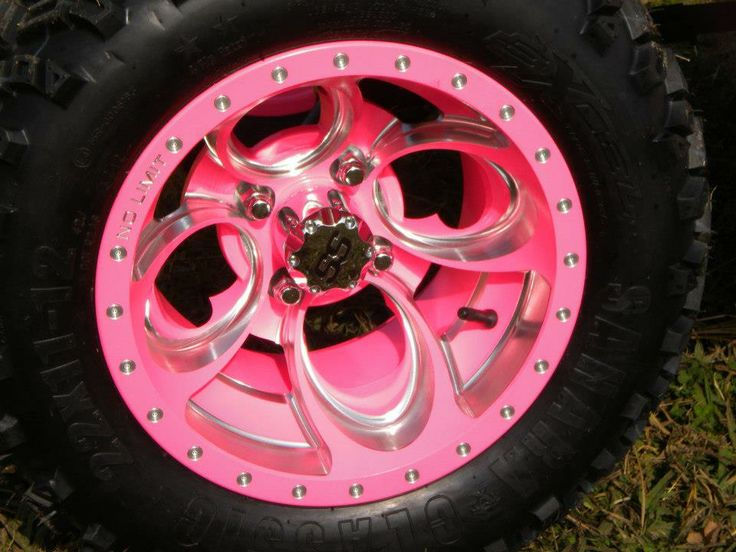 "Cheap Car Tires >> 12"" Hot Pink Positive Revolvers with Bullet Edge Golf Car | Golf cart accessories, Golf carts ..."