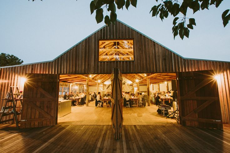 """Our reception hall or """"The Barn"""" looking very inviting!"""