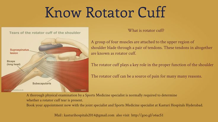 What is rotator cuff? Get best treatment for #Rotator Cuff at #Kasturi Multi Speciality Hospital Hyderabad.  Visit http://goo.gl/o6acS1