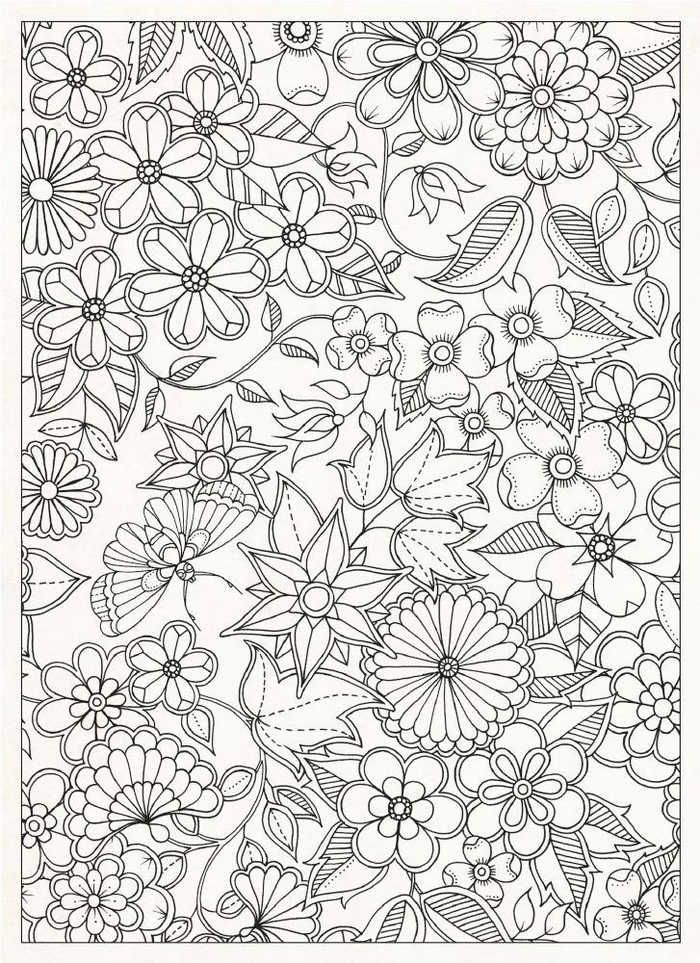 Flower Coloring Pages For Adults Printable Flower Coloring Pages Coloring Pages Coloring Books