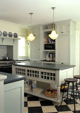 Painted Kitchen Island Area - traditional - kitchen - burlington - Kenzer Furniture