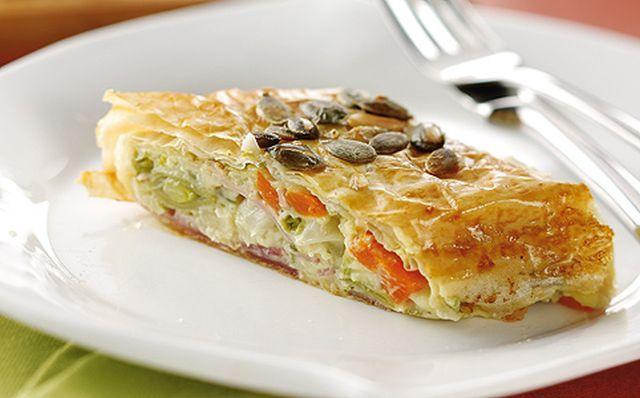 Gyors ebéd: zöldséges-csirkés rétes http://www.nlcafe.hu/gasztro/20150228/gyors-ebed-recept-zoldseges-csirkes-retes/