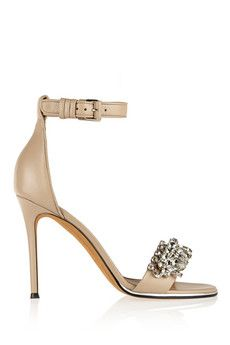 Givenchy Monia leather sandals with crystals | NET-A-PORTER