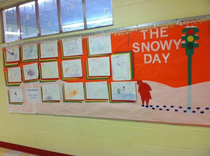 December Bulletin Board/literacy activity. What would you do on your snowy day?