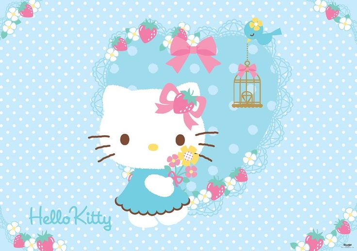 fototapet Hello Kitty and Teddy Rock 4
