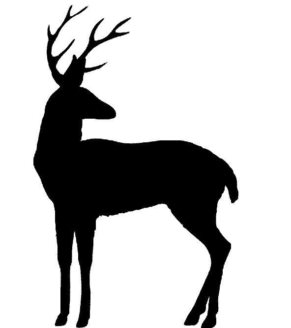 Трафарет олень скачать бесплатно