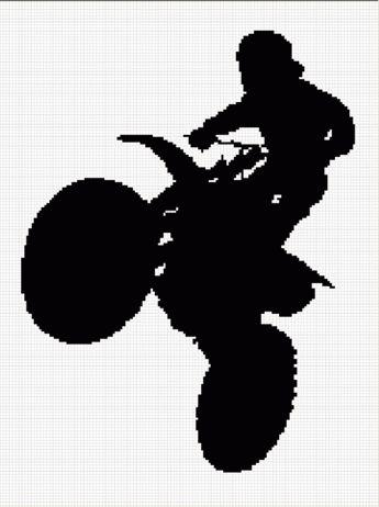 Cozyconcepts Motocross Motorcycle Bike Crochet Afghan