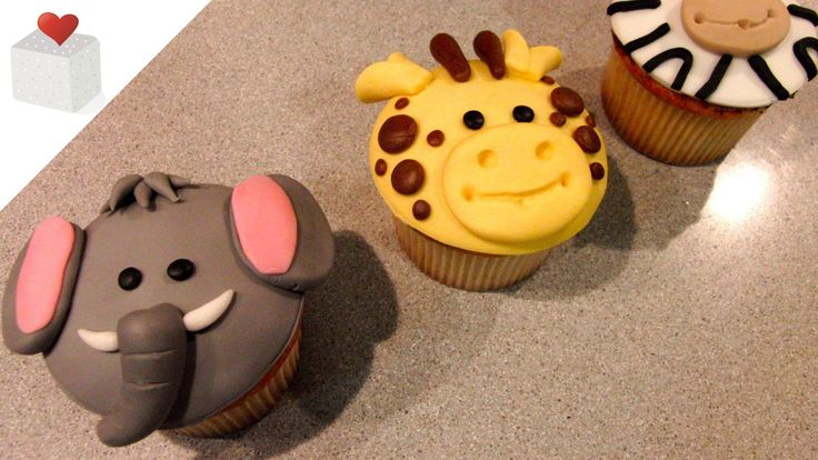 Cómo hacer Cupcakes Animales de la Selva (elefante, jirafa y cebra)  Suscríbete a mi canal: http://www.youtube.com/subscription_center?add_user=chininrequena